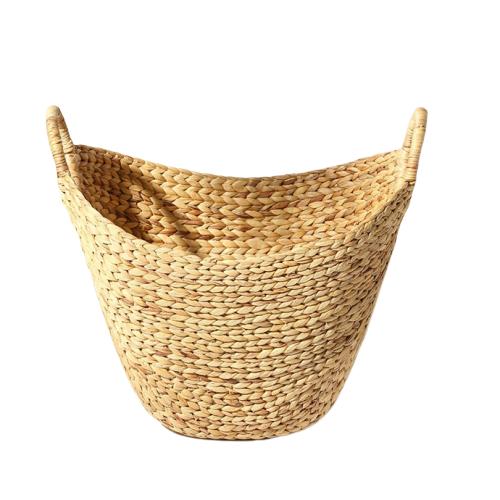 Handmade customized water hyacinth woven laundry basket