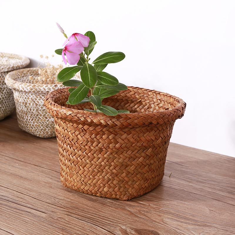 Seagrass flower pot