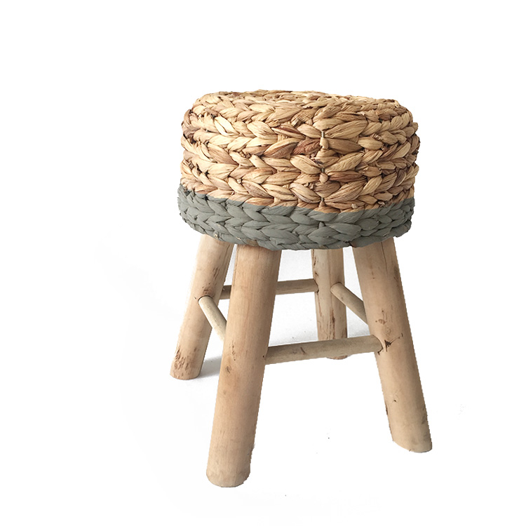 Woven water hyacinth stool